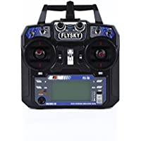 YKS FlySky FS-i6 Upgraded 2.4GHz 6 Channels Radio Control System Transmitter with FS-iA6 Receiver for RC Quadcopter Helicopter