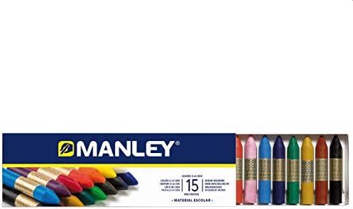 Manley 136124, Ceras, 15 Unidades, Tamaño Único, Multicolor: Amazon.es: Oficina y papelería