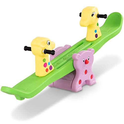 MD Group Teeter Totter Kids Playground Outdoor Seesaw Play Toy Backyard Children Colorful Set Toys by MD Group