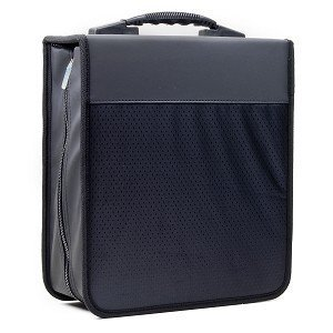 Dual Media Storage (Deluxe 320 Disc CD/DVD Media Case - Black - with New and Improved Inserts, double the thickness and all tabs pulled)