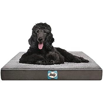 Amazon.com : Sealy Dog Bed - Supreme Sherpa Gray - Medium