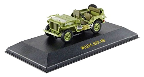 1944 Jeep Willys C7 U.S. Army Green with Star on Hood 1/43 by Greenlight 86307 Us Army Willys Jeep