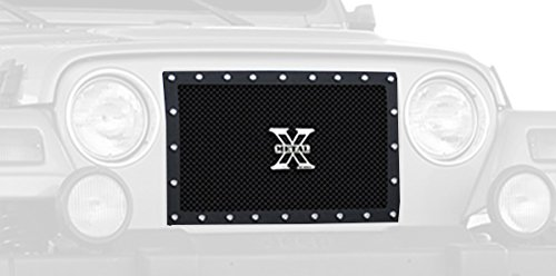 TRex Grilles 6714901 Small Mesh Steel Black Finish XMetal Grille Insert for Jeep Wrangler T-Rex Grilles