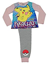 Girls Pokemon Pikachu Pyjamas 7 to 12 Years COMPUTER GAME PJ Pokemon Go W17