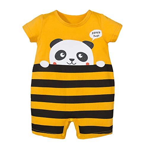 NCONCO Baby Peuter Romper Pasgeboren Cartoon Panda Gestreepte Jumpsuit Romper