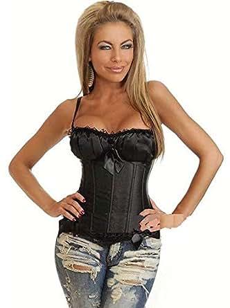 Black Lace Macrame Gallus Court Style Corset
