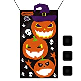 "Kids Halloween Games Party Decorations Halloween Pumpkin Party Decorations Kids Bean Bag Toss Game Black (30"" X 54"")"