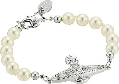 Vivienne Westwood Women's Mini Bas Relief Bracelet Rhodium One ()