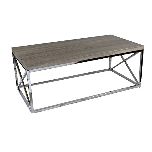 UPC 192551041608, Benzara Elegantly Charmed Metallic Cocktail Table, Brown and Silver