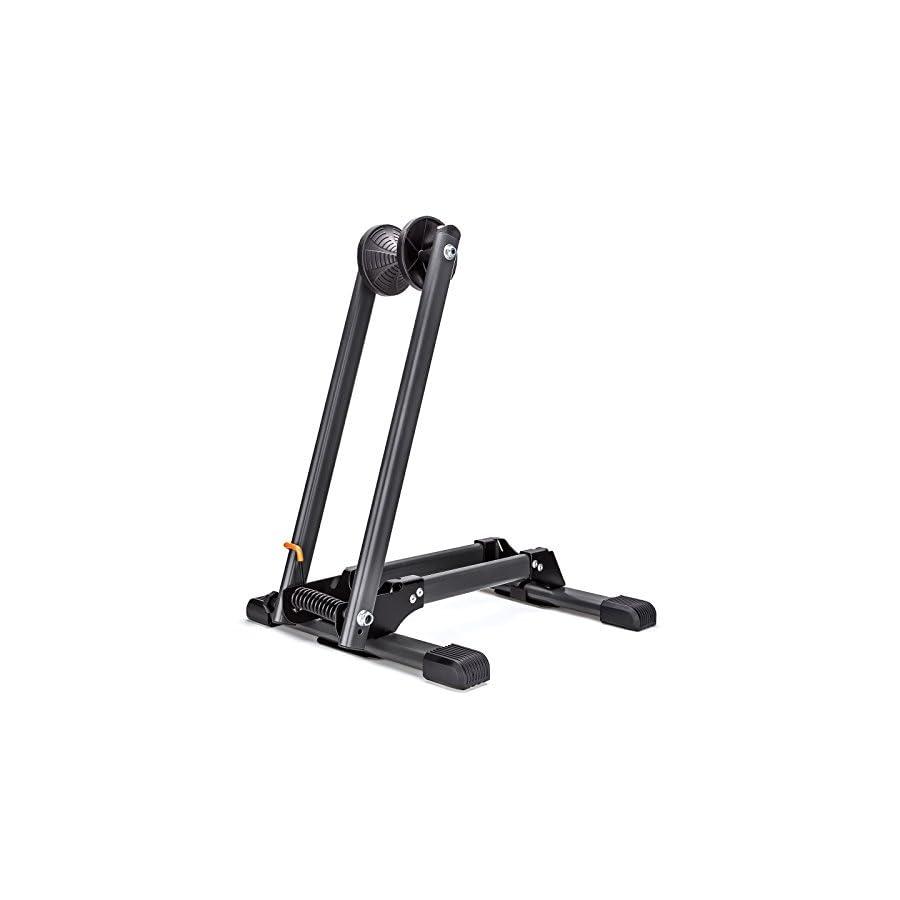 MEETLOCKS Bike Storage Floor Stand, Indoor Foldable and Adjustable Bicycle Parking Rack Wheel Holder