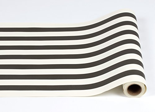 Black and White Striped Paper Table Runner - 25' Long x 20""
