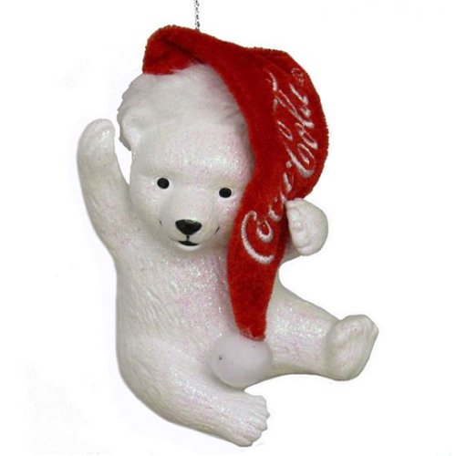Coca-Cola Kurt Adler Polar Bear Cub with Hat
