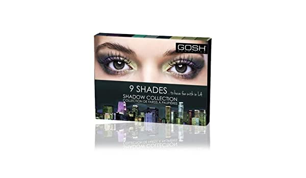 Amazon.com: Paleta de Sombras 9 shades - 002 To have fun with in LA - Gosh Copenhagen: Beauty