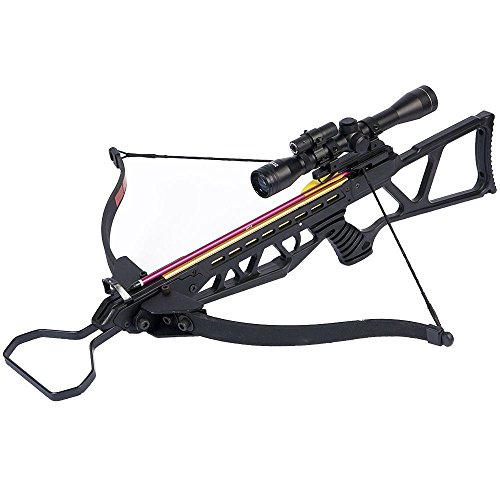 [180 lb Black Hunting Crossbow Bow + 4x20 Scope + 14 Arrows / Bolts 175 150 80 50] (180 Lb Hunting Crossbow)