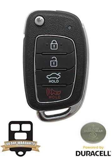 Hyundai Sonata Keyless Entry - OEM Hyundai Sonata Flip Key Keyless Entry Remote Fob (FCC ID: TQ8-RKE-4F16 / P/N: 95430-C1010)