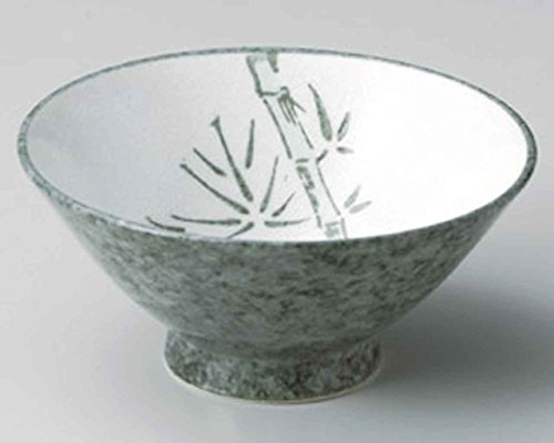 Green Bamboo 6inch Set of 10 Ramen-Bowls White porcelain Made in Japan by Watou.asia