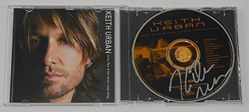 (Keith Urban Love, Pain & The Whole Crazy Thing Hand Signed Autographed Music Cd Compact Disc Loa)