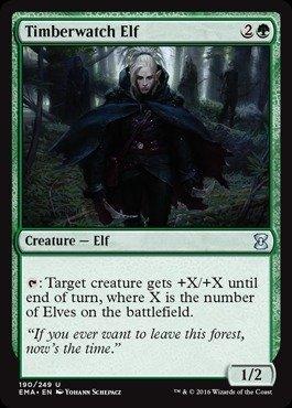 (Magic: the Gathering - Timberwatch Elf (190/249) - Eternal Masters)