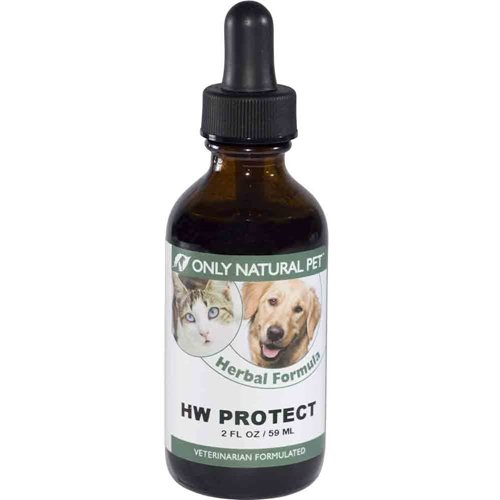 Only Natural Pet HW Protect Herbal Formula 2 oz Anti Parasitic Formula