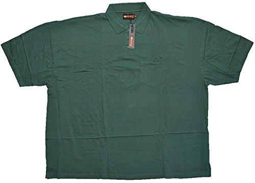 Übergrößen !!! Tolles Basic Polo-Shirt Piqué von KAMRO in Tannengrün mit Brusttasche 3XL - 10XL