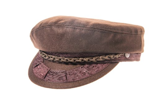 (Aegean Authentic Greek Fisherman's Cap - Wool - Brown - Size 61 - (7)