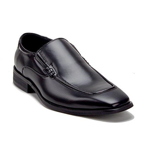 Jaime Aldo Mens Black Classic Slip On Dress Loafers Shoes Black 2r6yfO