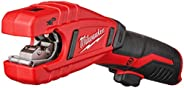 """Milwaukee 2471-20 M12 Cordless Lithium Ion 500 RPM Copper Pipe and Tubing Cutter Adjustable from 3/8"""" to"""