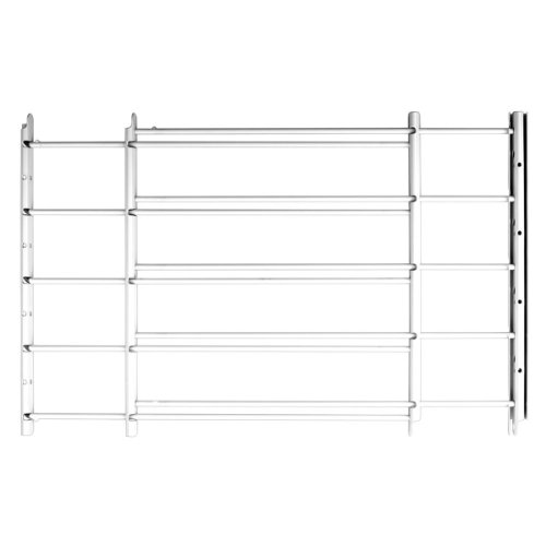 John Sterling Swing-Open Style 5-Bar Child Safety and Window Guard, White, 1135- (Screen Bar Horizontal)