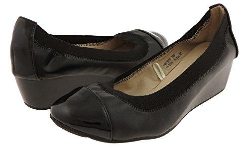 Capelli New York Dames Faux Lederen Mini Sleehak Schoen Zwart