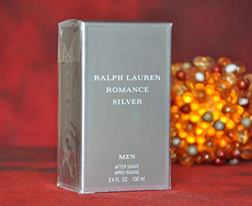 - RALPH LAUREN ROMANCE SILVER After Shave 3.4 Fl. Oz / 100ml SPLASH