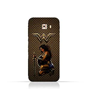 Samsung Galaxy C7 Pro TPU Silicone Protective Case with Wonder Woman Design