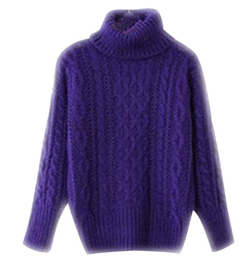 Maille Ample Chaud Sweaters Pull Sweater Violet Tops Chandail Tricots Femme Col Feminin Mode Maille Grosse Sous Hiver Grosse Haut Automne X0qgYq1w