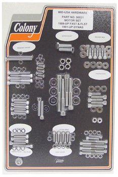 Allen powertrain hardware softail 89/98 dyna 91/98 chrome plated colony #06531-by-Colony