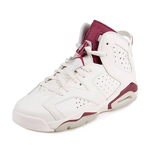 Nike Jordan Kids Air Jordan 6 Retro OG Bg Off White/New Maroon Basketball Shoe 6.5 Kids US (Air Jordan Vi Retro compare prices)