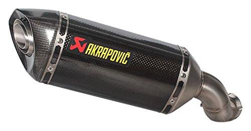 (17-18 KAWASAKI ZR900ABS: Akrapovic Slip-On Exhaust (Homologated/Carbon)