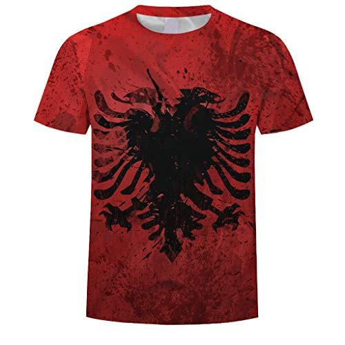 PASATO Fashion Mens Splash-Ink 3D Printing O-Neck Tees Shirt