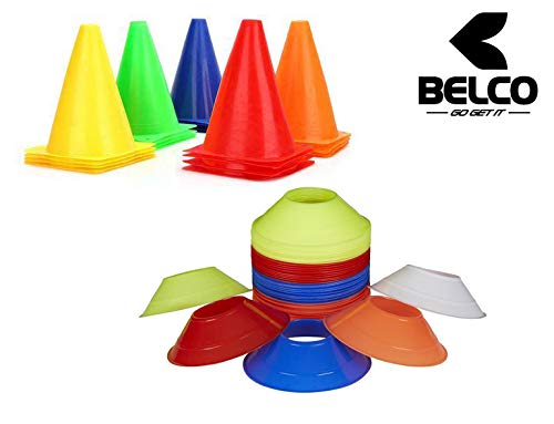 BELCO SPORTS 6 Inch Cones Pack 6,20 Space Markers Agility Combos Price & Reviews