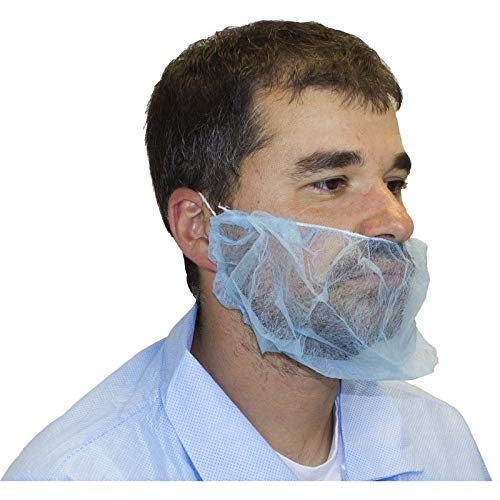 Polypropylene Beard Cover, Blue (1000 Per Case) by The Safety Zone