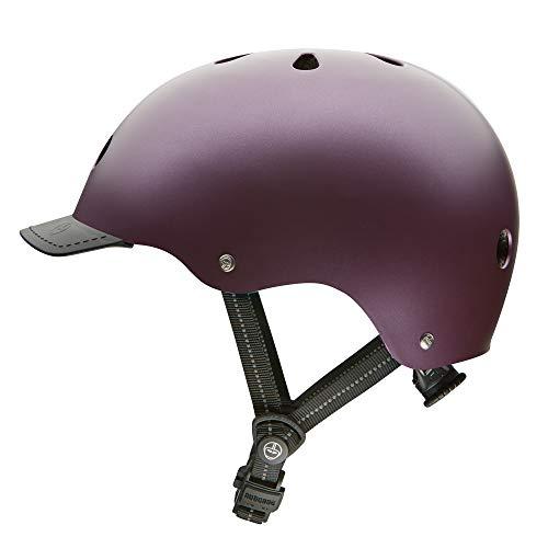 Nutcase - Solid Street Bike Helmet for Adults, Passion Purple Satin Metallic, Medium