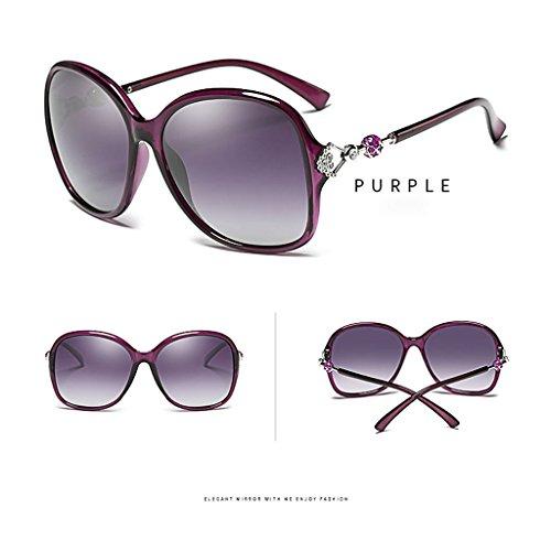 de Polarisées Femmes Lunettes Big de de Lunettes Lunettes Frame Color Fashion Purple Blue Soleil Soleil Soleil UV400 TangMengYun Élégantes P5qwC5n