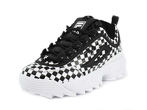 Fila Womens Disruptor 2 Checker Black Checkered Sneaker - 11 ()