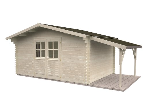 Gartenhaus Sandy 3.1 ca. 320 x 320 cm inkl. Schleppdach: Amazon.de ...