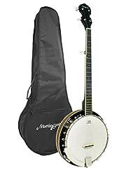 Martin Smith BJ-001 5 String Guitar Banjo Including Padded Gi...