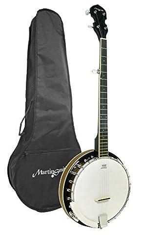 Martin Smith BJ-001 5 String Guitar Banjo Including Padded Gig Bag (Children Banjo)