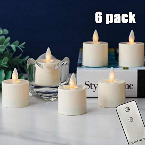 - NONNO&ZGF Remote Flameless Candles, Votive Candles Set of 6 (H2 xD1.4) LED Tea Light Candles with Moving Flame