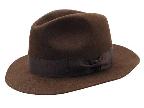 r Felt Classic Vintage Fedora Hat US 7 1/8 Brown (Rabbit Felt Hat)