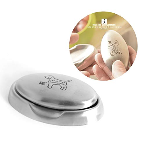 GuoYq Odor Remover, Stainless Steel soap to Odor Clean, Dog pet Artificial Engraving, Kitchen bar Eliminate Food Residual Odor