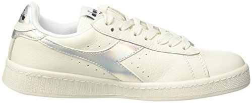 Diadora Unisex Adults' Game Hologram Sneaker Low Neck Off White (Bianco) 5d6Mp