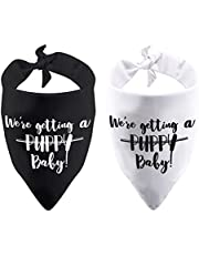 2 Pack We're Getting a Puppy Baby Dog Bandana Pregnancy Announcement Baby Announcement Gift