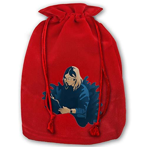 Christmas Fabric Jewelry Bags,Working Girl 13.8